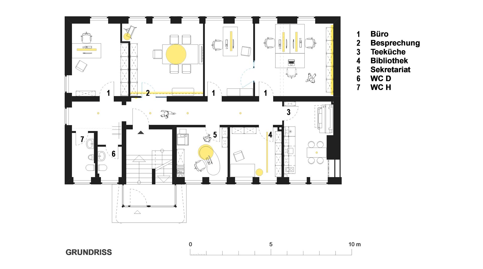Büro in München (Ludwigsvorstadt) / Grundriss