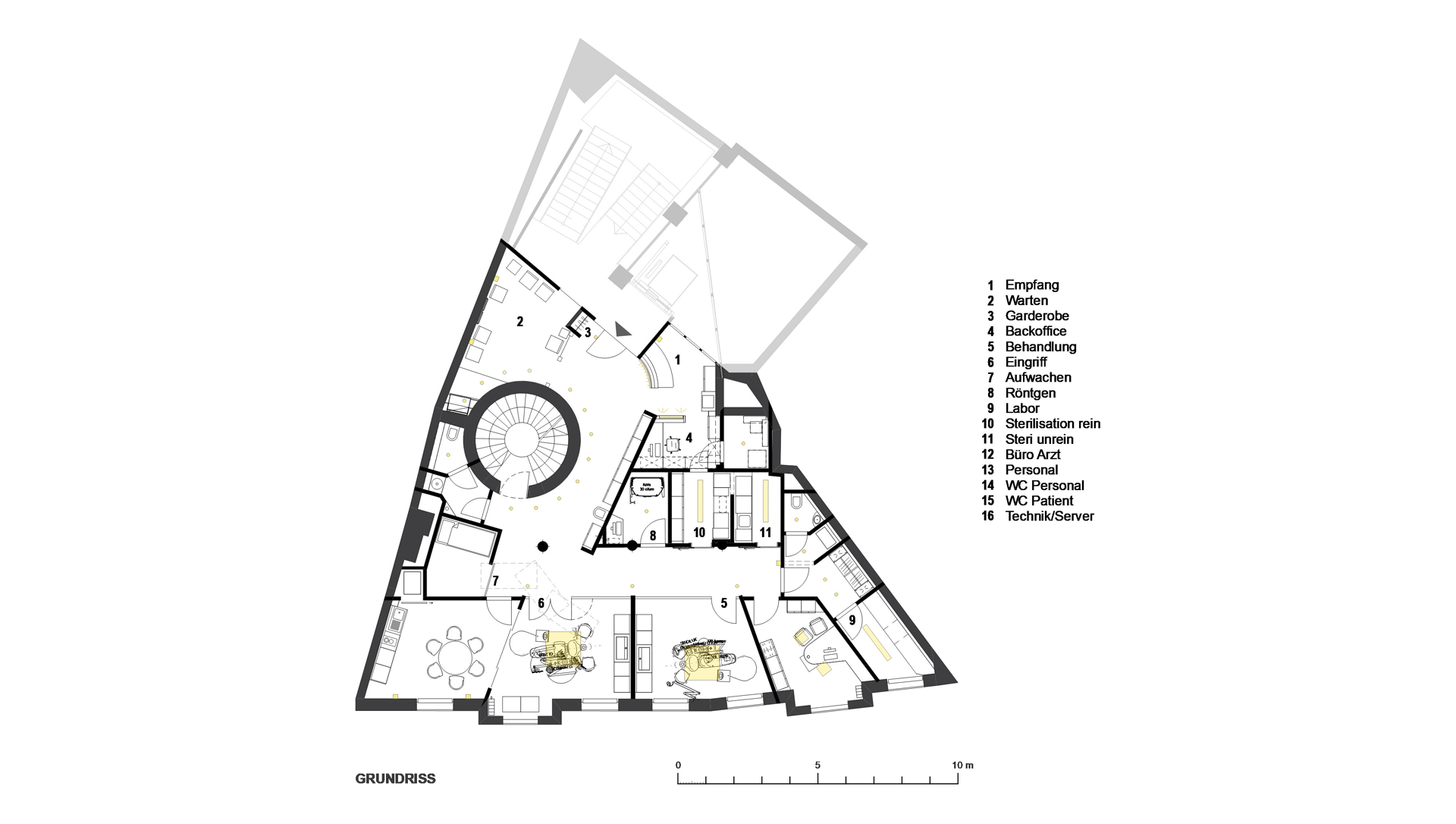 Endodontologie Praxis in Augsburg / Grundriss