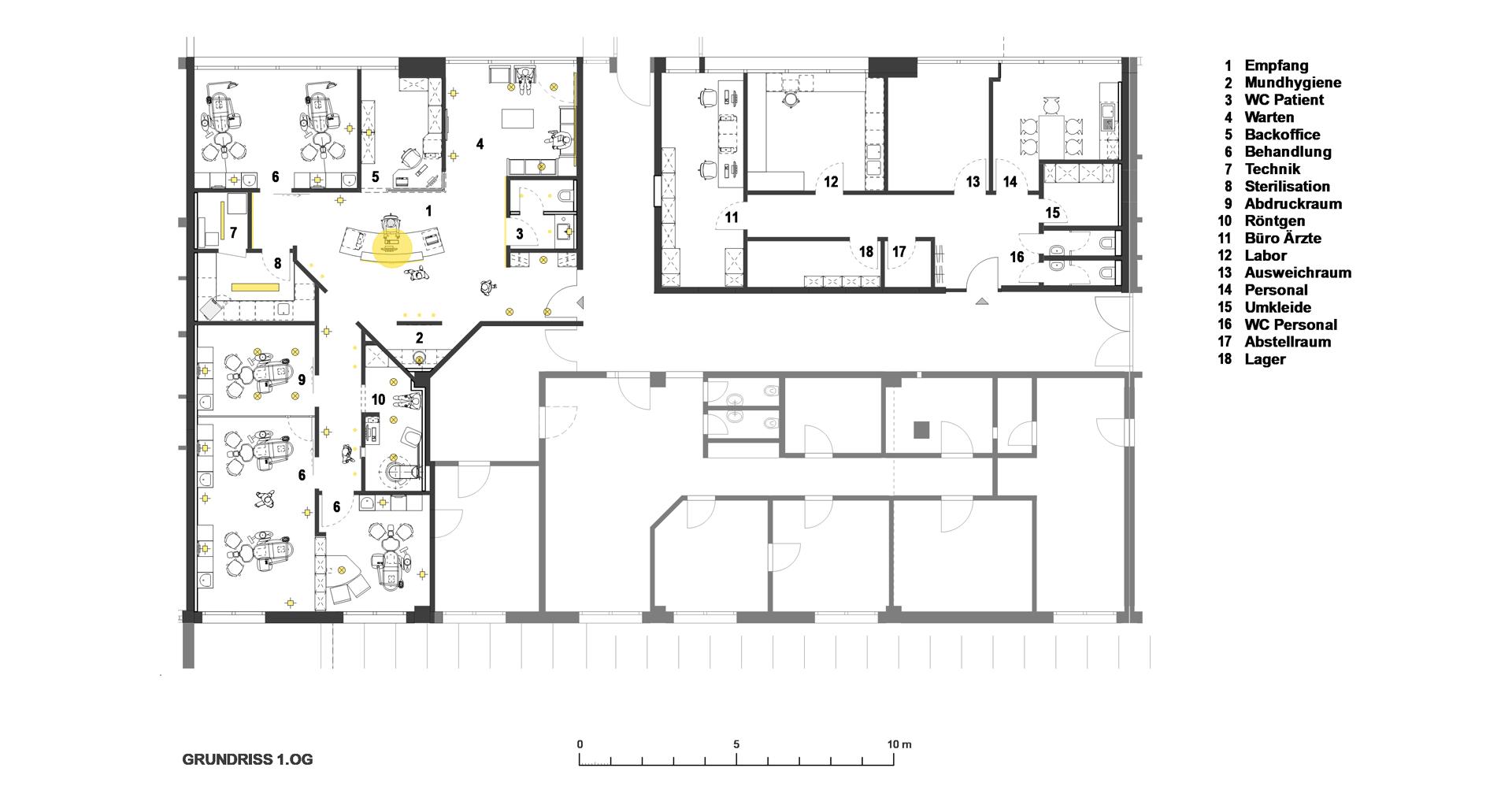 Kieferorthopädie Praxis in Fürstenfeldbruck / Grundriss