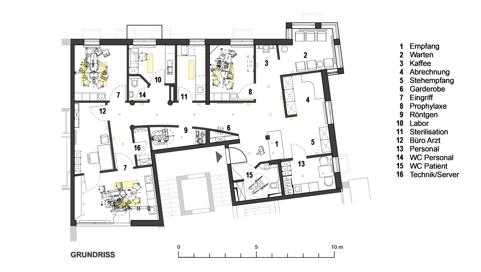 ZA Praxis in Kempten / Grundriss
