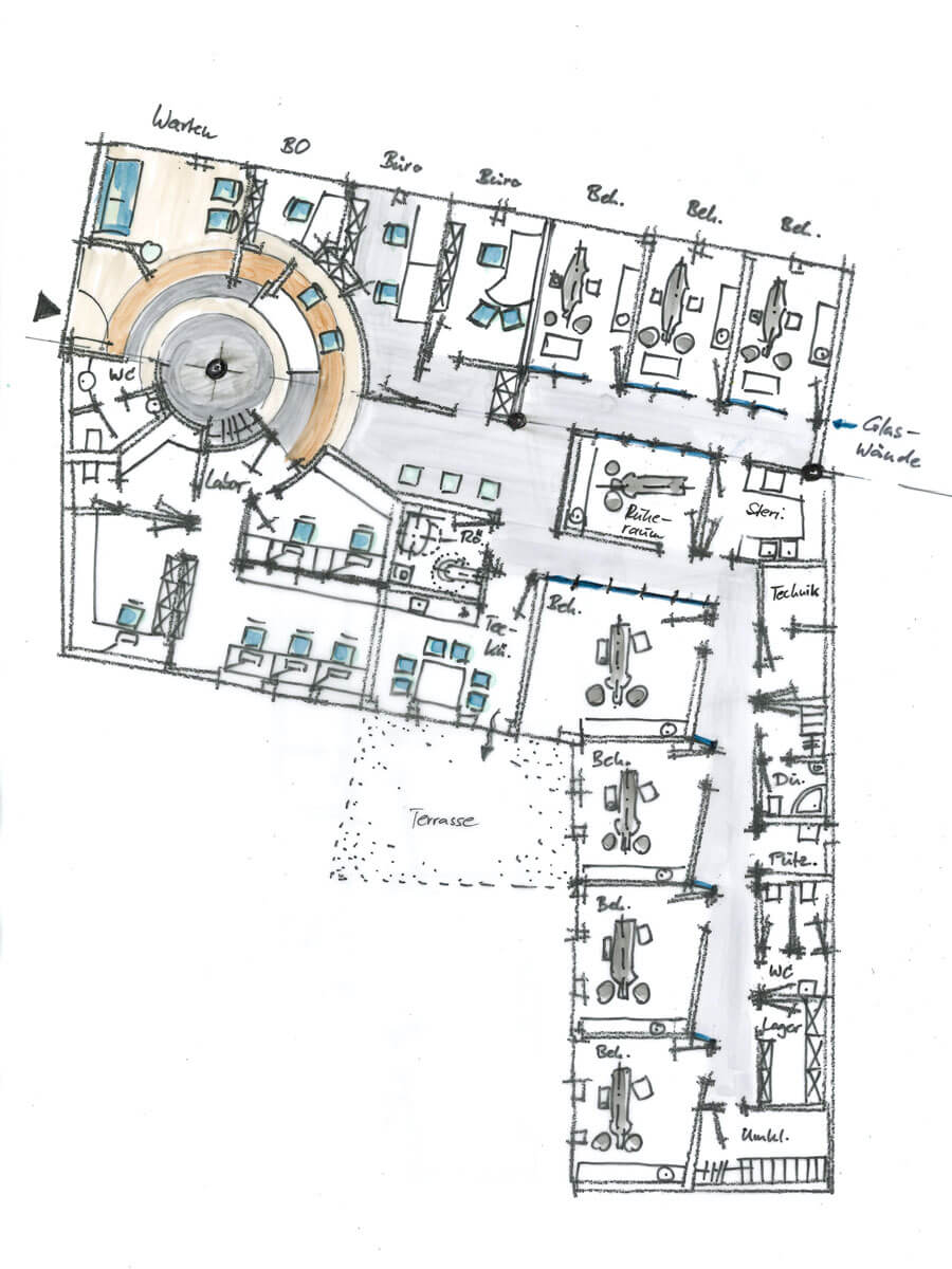 ZA Studie 01 / Grundriss Kreisel