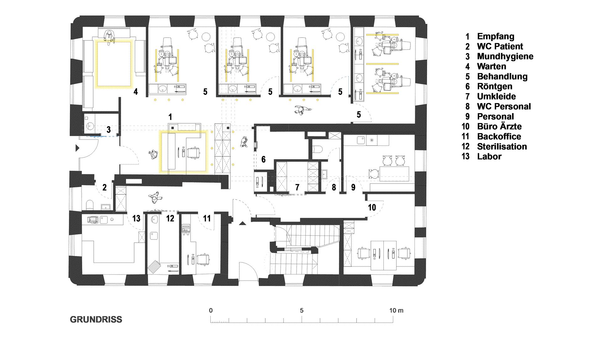 ZA Praxis in Wolnzach / Grundriss